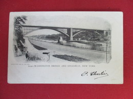 CPA ETATS UNIS WASHINGTON BRIDGE AND SPEEDWAY NEW YORK - Ponts & Tunnels