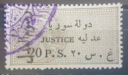 BB1 - Syria 1930 Notarial Revenue Stamp - 20p Grey Justice Overprinted In BLACK Notarial Fee - Syrië