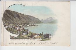 Clarens-Montreux Et La Dent Du Midi        LITHO      En 1901     (mit ROYAL-Hotelstempel) - VD Vaud