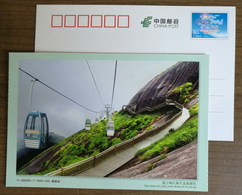 Mt.Jinraoshan Sightseeing Cable Car,CN 11 Headstream Of Minjiang River Ecological Protection Area  Pre-stamped Card - Holidays & Tourism