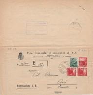 RACCOMANDATA 1947 CON 1+3X3 TIMBRO AVIO (Z576 - 1946-60: Marcofilia