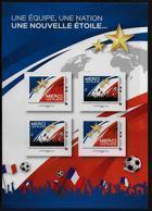 FRANCE   N°  ( 4 Valeurs )  * *    Cup 2018  Football  Soccer  Fussball - Fußball-Weltmeisterschaft