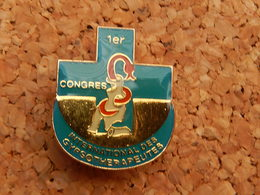 Pin's - Congrès Internationnal Des Gypsotherapeutes Les 26 Et 27 Fevrier 1993. Pin's Caducé Numéroté 898 - Medical