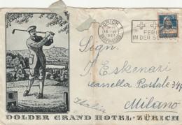 LETTERA 1927 SVIZZERA DIRETTA MILANO TIMBRO ZURICH -MILANO -STRAPPI IN ALTO (Z686 - Svizzera