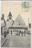 28 TOURY . L'église Anmée , édit : Lib : L Rivet , écrite En 1906  ,  état Extra - Other Municipalities