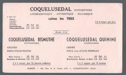 Buvard Coquelusedal Bismuthe Et Quinine Calme Les Toux - Produits Pharmaceutiques