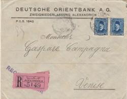 RACCOMANDATA 1930 DA ALESSANDRIA EGITTO PER ITALIA TIMBRO ARRIVO (Z721 - Egypt
