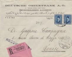 RACCOMANDATA 1930 DA ALESSANDRIA EGITTO PER ITALIA TIMBRO ARRIVO (Z722 - Egypt