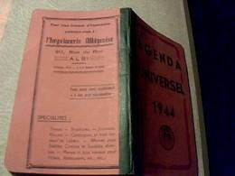 Vieux Papier   Calendrier Agenda  Universel De 1944 Avec Calendrier Marque PEM  Non Ecrit - Calendars