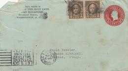 INTERO 1927 DA STATI UNITI CON FRANCOBOLLI AGGIUNTI DIRETTA ITALIA -TIMBRI - ERINNOFILO SUL RETRO (Z741 - Stati Uniti