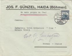 LETTERA ANNI 30 DA CECOSLOVACCHIA PER ITALIA TIMBRO HAIDA (Z749 - Cartas