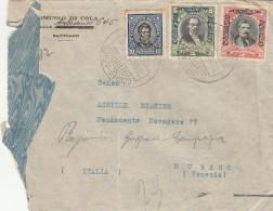 LETTERA 1929 DA CILE PER ITALIA -TIMBRI VENEZIA BUENOS AIRES-STRAPPATA A SX (Z756 - Chile