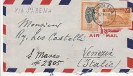 LETTERA 1948 DA CONGO BELGA DIRETTA ITALIA TIMBRO LUKOLELA VENEZIA (Z761 - Congo Belga