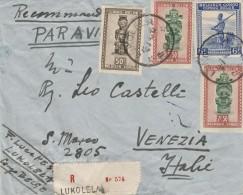 RACCOMANDATA 1948 DA CONGO BELGA-LUKOLELA DIRETTA ITALIA -TIMBRI ARRIVO (Z763 - Congo Belga