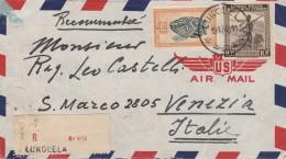 RACCOMANDATA 1948 DA CONGO BELGA-LUKOLELA DIRETTA ITALIA -TIMBRI ARRIVO (Z766 - Congo Belga