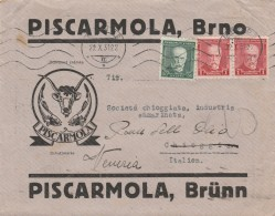 LETTERA 1931 DA CECOSLOVACCHIA PER ITALIA TIMBRO ARRIVO VENEZIA (Z783 - Cartas