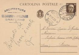 INTERO POSTALE 1939 CENT.30 TIMBRO PIENZA SARTEANO (Z999 - Interi Postali