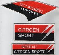 E22 - Sport Automobile - Ecusson X 3 - Course De Voiture - CITROEN Sport - Ecussons Tissu