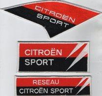 E23- Sport Automobile - Ecusson X 3 - Course De Voiture - CITROEN Sport - Ecussons Tissu