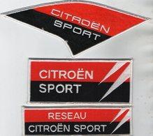 E24 - Sport Automobile - Ecusson X 3 - Course De Voiture - CITROEN Sport - Ecussons Tissu