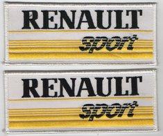 E25 - Sport Automobile - Ecusson X 2 - Course De Voiture - RENAULT Sport - Ecussons Tissu