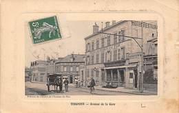 Tergnier     02        Hôtel Du Chemin De Fer  Avenue De La Gare      (voir Scan) - France