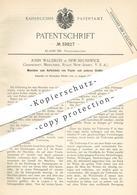 Original Patent - John Waldron , New Brunswick , Middlesex , New Jersey , USA , Aufwickeln Von Papier U. Stoff | Walze - Historische Dokumente