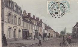 78. LE PERRAY EN YVELINES.  CPA COLORISEE. ANIMATION GRANDE RUE. ANNEE 1905 - Le Perray En Yvelines