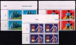 Schweiz 1969, Michel 911 - 913 ** Im Viererblock - Switzerland