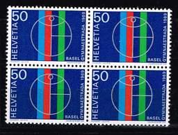 Schweiz 1969, Michel 898 ** Im Viererblock - Switzerland