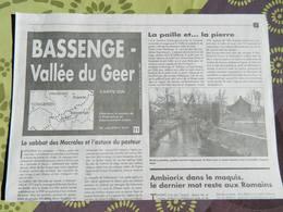 BASSENGE- Vallée Du Geer  : Carte Topographique  IGN - Cartes Topographiques