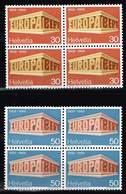 Schweiz 1969, Michel 900 - 901 ** Im Viererblock Europa C.E.P.T. - Switzerland