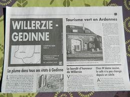 WILLERZIE-GEDINNE  : Carte Topographique  IGN - Cartes Topographiques