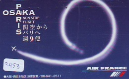 Télécarte  JAPON * AIR FRANCE (2453) * AVIATION * AIRLINE Phonecard  JAPAN AIRPLANE * FLUGZEUG - Avions