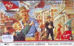 Télécarte  JAPON * VIRGIN ATLANTIC  (2458) * AVIATION * AIRLINE Phonecard  JAPAN AIRPLANE * FLUGZEUG - Avions