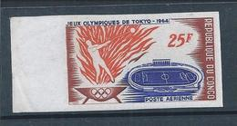 Stamp Not Pinned Olympic Games Tokyo 1964.Football Stadium.Launch The Hammer.Olympic Flame.Fußballstadion.Olympischen - Zomer 1964: Tokyo