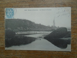 """Rivière De Pont-aven , Les Roches De Poulicun """" Carte Animée Bateau """" - Pont Aven"""