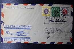 Hong Kong : First Flight Hong Kong -> San Fransisco FAM 14 , 29 April 1937  3 Color Franking - Hong Kong (...-1997)