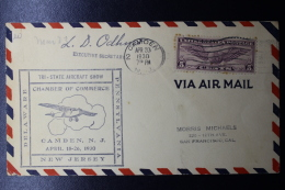 USA Tri-State Aircrat Show Chambre Of Commerce Camden April 1930 Delaware, New Jersey And Pennsylvania Signed/ Signé/sig - Vereinigte Staaten