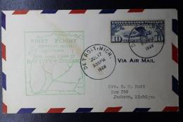 USA  First Flight Detroit -> Bay City Chicago July 17 1928 - Vereinigte Staaten