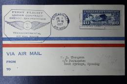 USA  First Flight Under Contract  Chicago  - San Fransico  July 1 1927 - Vereinigte Staaten