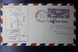 USA  First Flight International Airmail Twin Cities To Winnipeg, Feb 4 1931 - Vereinigte Staaten
