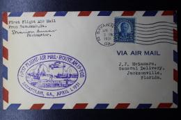 USA  First Flight IAir Mail Route AM19 POD Savannah GA, April 1 1931 - Vereinigte Staaten