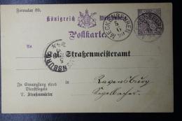 Württemberg  Karte Strassenmeisteramt Formular 89    1890 - Wurtemberg