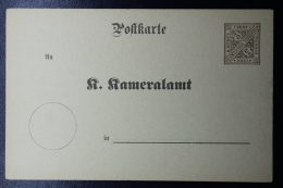 Württemberg  Karte DPB3-II Kameralamt - Wuerttemberg