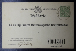 Württemberg  Karte DPB14 Meteorologische Centraal Station - Wuerttemberg