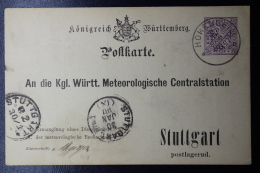 Württemberg  Karte DPB15 Meteorologische Centraal Station - Wurtemberg