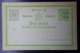 Württemberg  Karte PZD1 Privat Drück A. Dann - Wurtemberg
