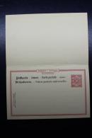 Württemberg  Postkarte  P29I B Druckfëhler  UNIVCRSELLE Aufden Antwortteil - Wurtemberg
