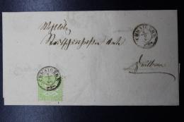 Wurttemberg  Mi 25  3 Kr  Arms 1866 Schwaigern -> Heilbronn - Wurtemberg